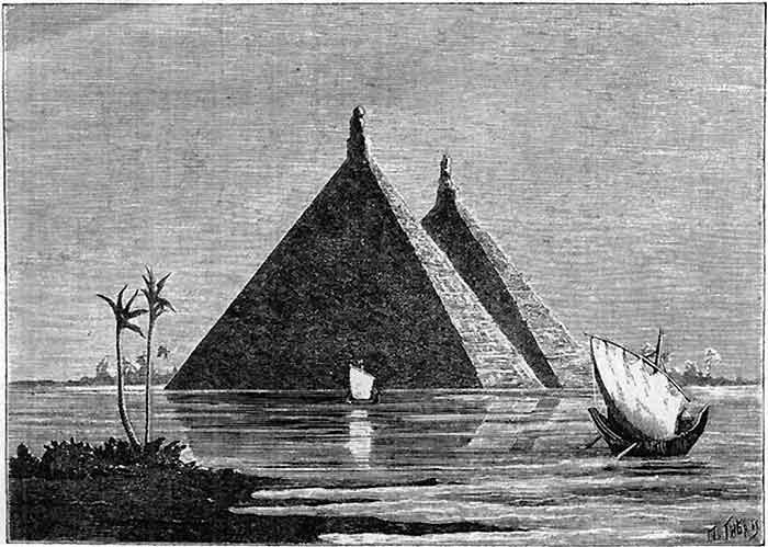 пирамиды в воде