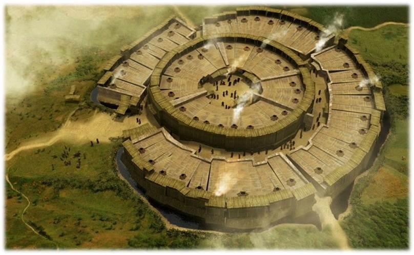 Аркаим, художественная реконструкция