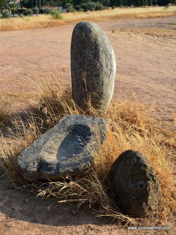 Megalithic grinding stone