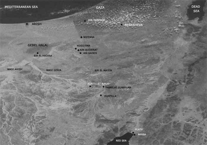 Кунтиллет Ажруд карта