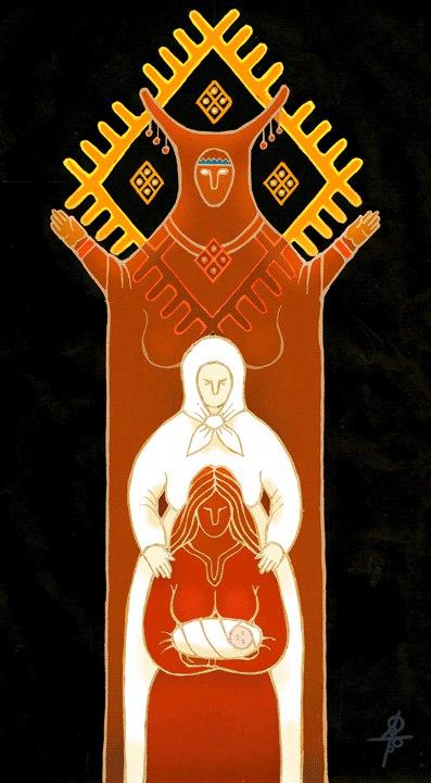 Богиня и рога