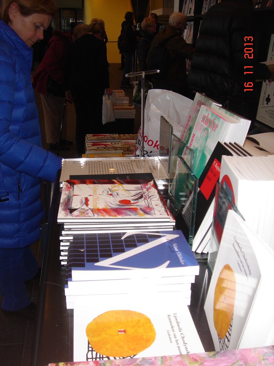 My book sales on Malevich expos. in Stedelijk museum Amsterdam