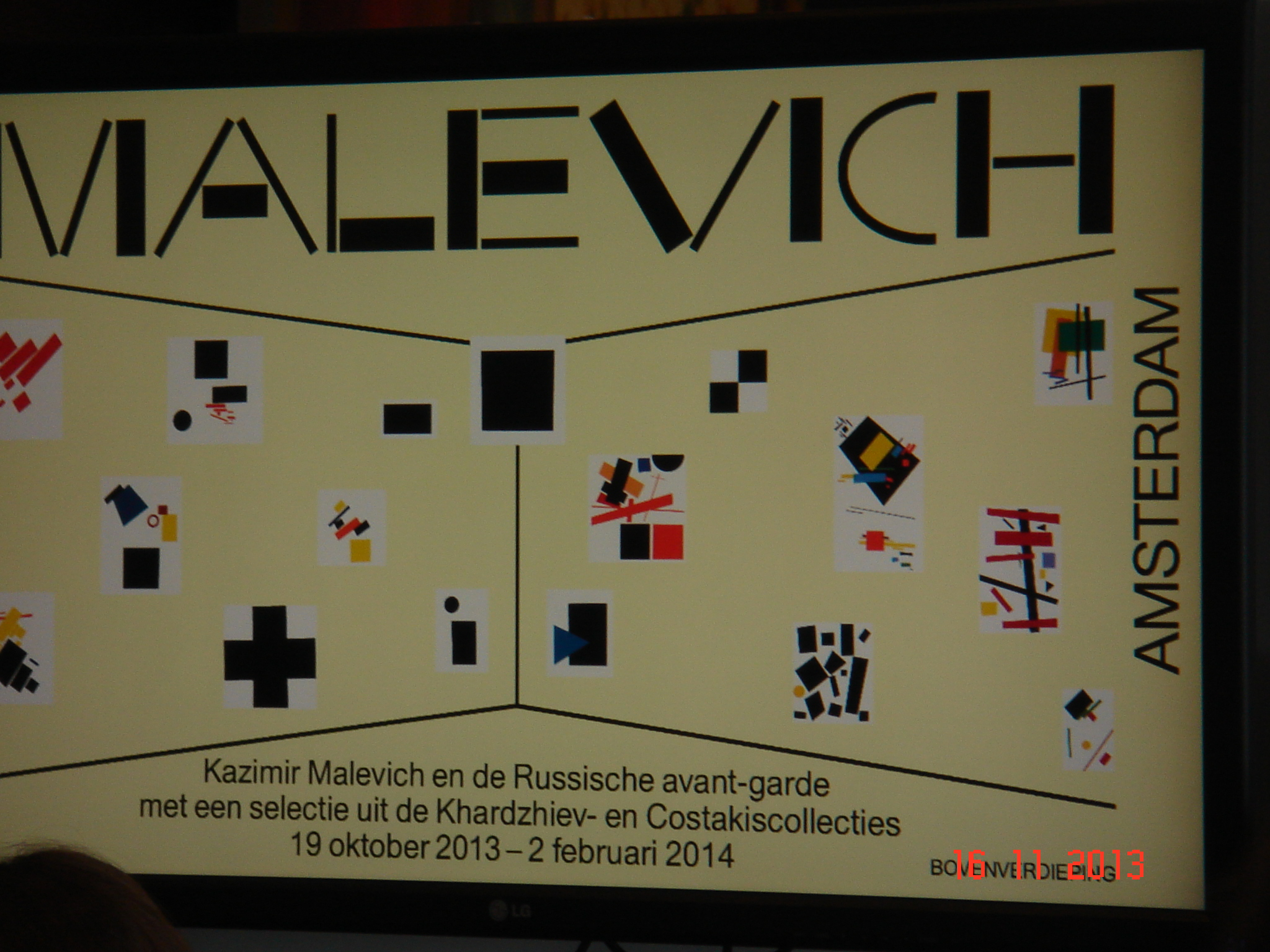 My book sales on Malevich expos. in Stedelijk museum Amsterdam 032