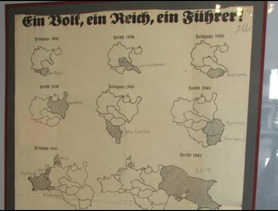 1939 г. Плакат-карта о расширении территории Германии в 1938-1948 гг. копия.