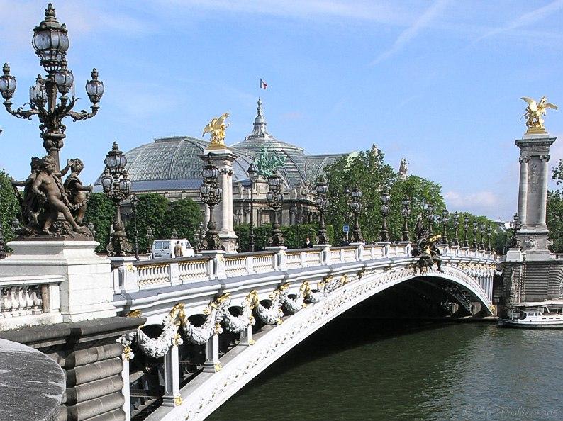 Париж. Мост Александра III через Сену.