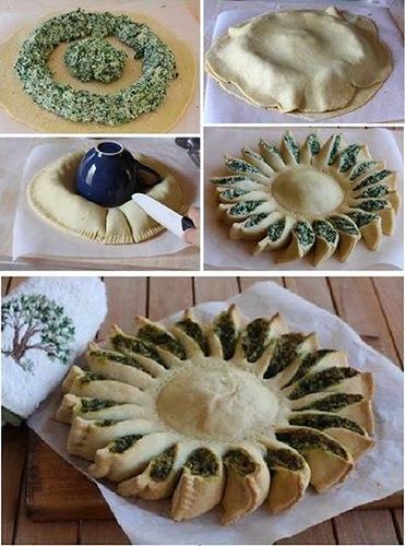 пирог шпинат