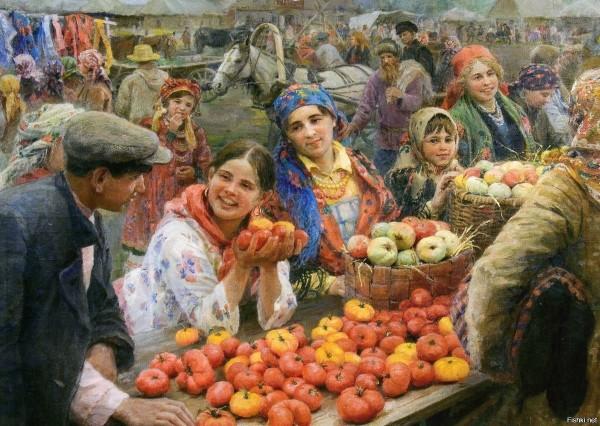 Ф. Сычков. Колхозный базар.