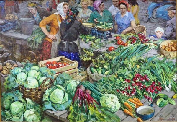 Шумилов Вячеслав Фёдорович (1931-2004) «На рынке» 1974а