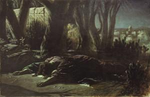 пЕРОВ. Христос в Гефсиманском саду. 1878 Холст, масло. 151.5x238 ГТГ