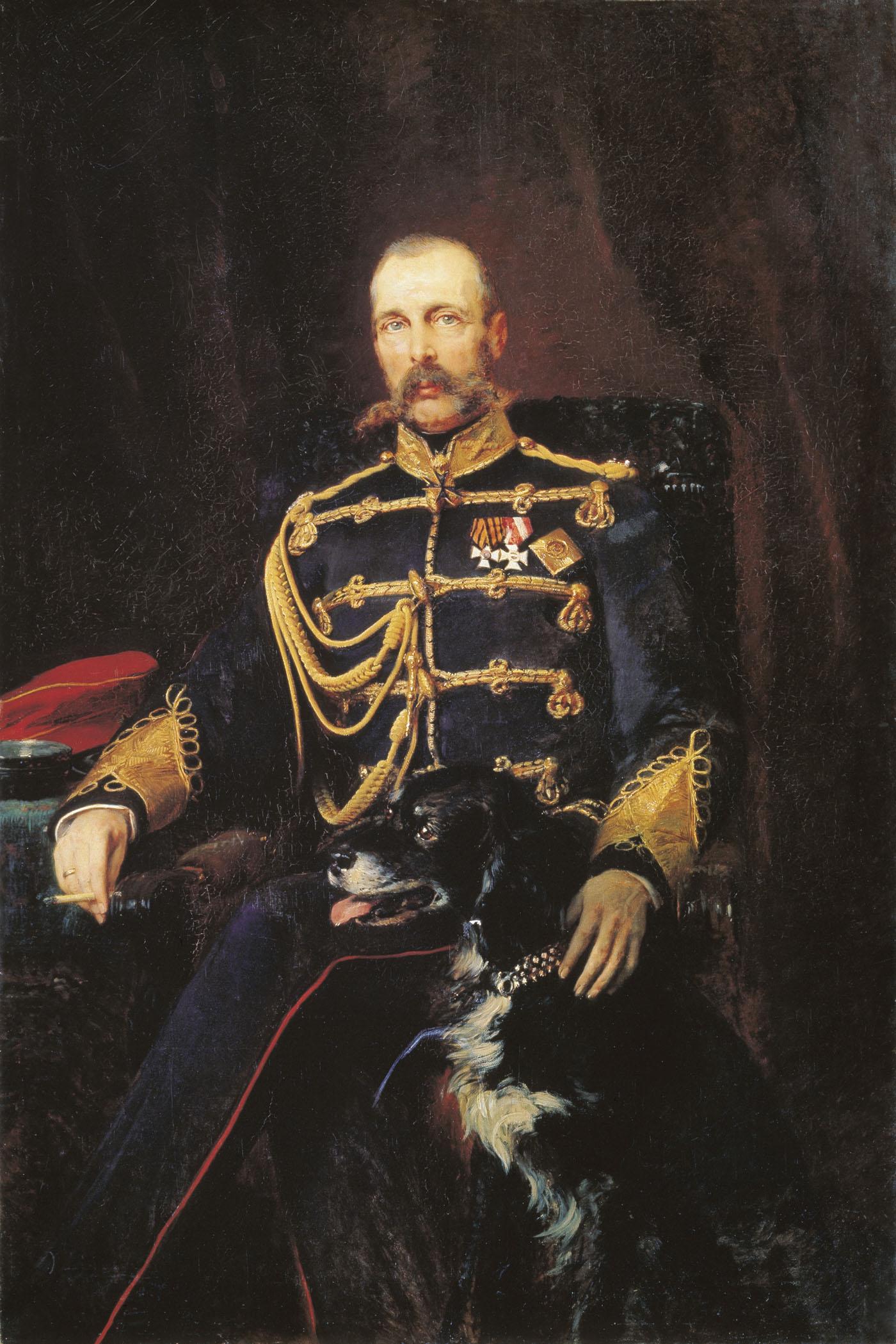 Портрет Александра II. 1881. Холст, масло. 164х108 см