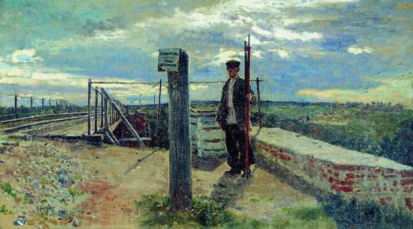 Репин. Железнодорожный сторож. Хотьково. 1882