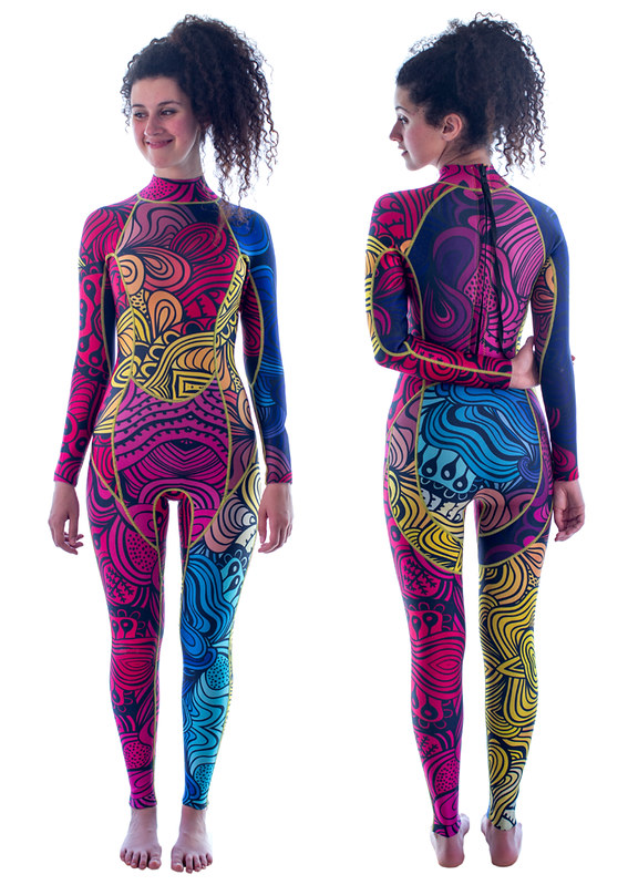 Wetsuit pattern design