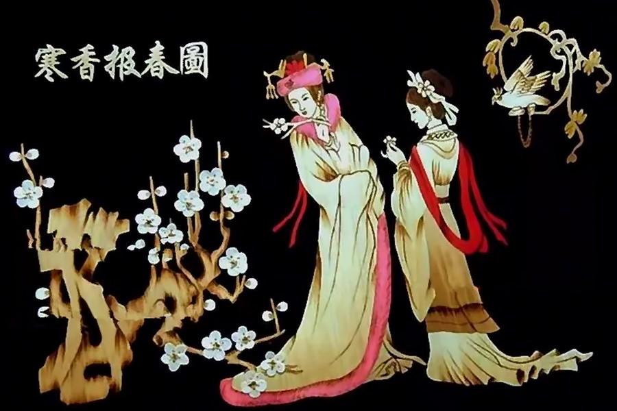 Китайская соломка. Художник Jan Bingjun