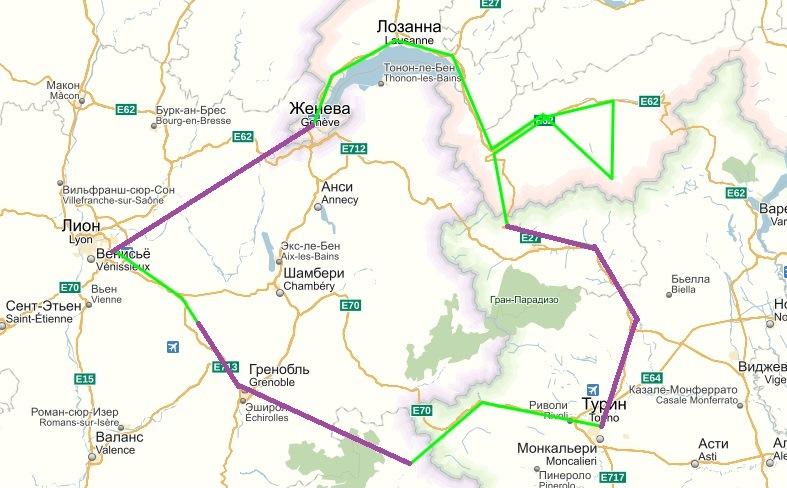 EU1 route