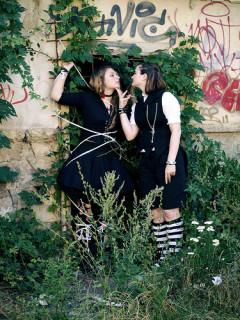 girl handcuffed Goth