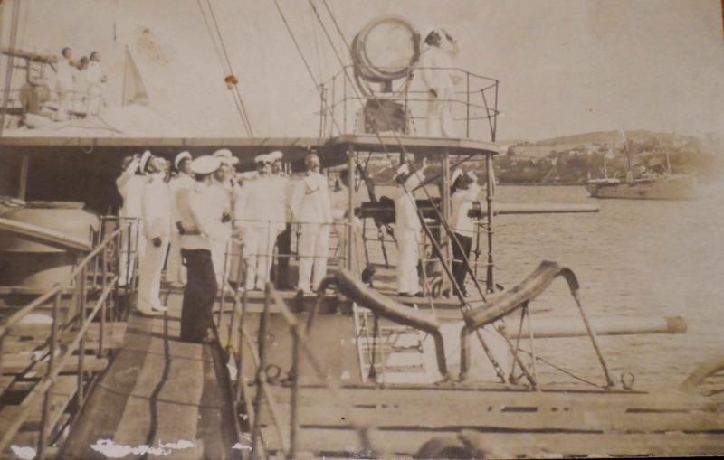 """Офицеры крейсера """"Кагул"""" наблюдают солнечное затмение в 1913 году"""