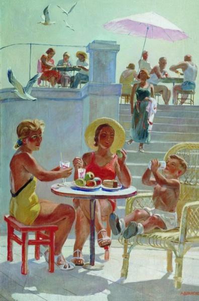 А. Дейнека. В Крыму. 1956 год