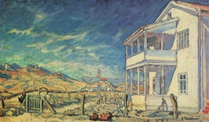 В Коктебеле. Дом Максимилиана Волошина. 1905