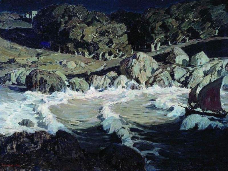 Ночь у моря. 1903