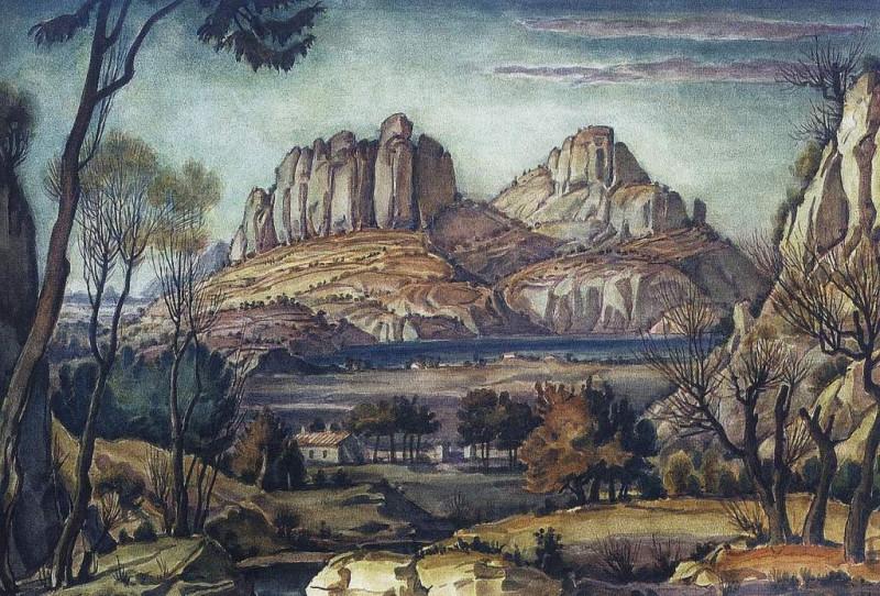 Романтический пейзаж (Крымский пейзаж). 1942