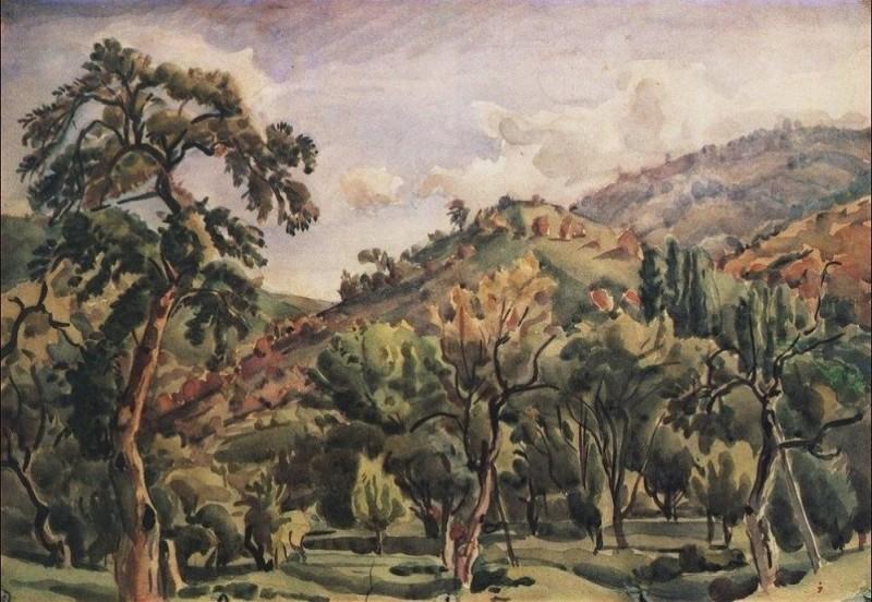 Горный пейзаж. Орталаны. 1930-е