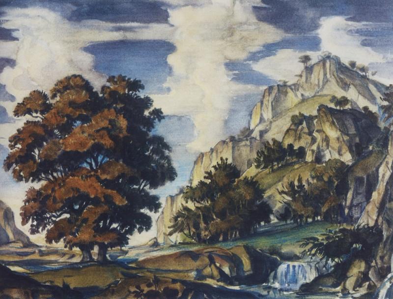 Романтический пейзаж. 1920-е