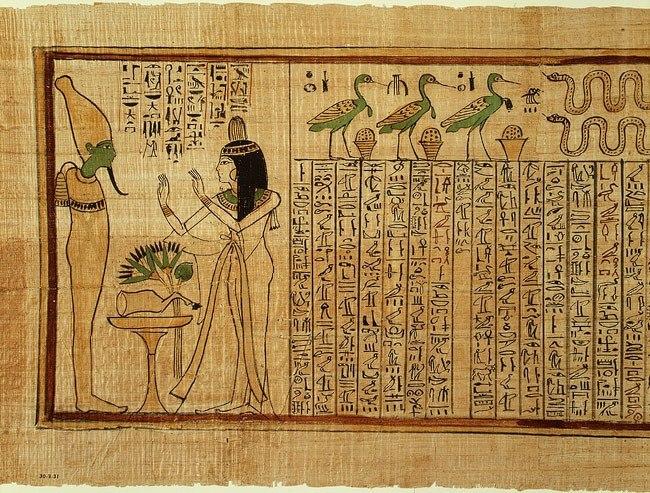 Древнеегипетская «Книга Мертвых»
