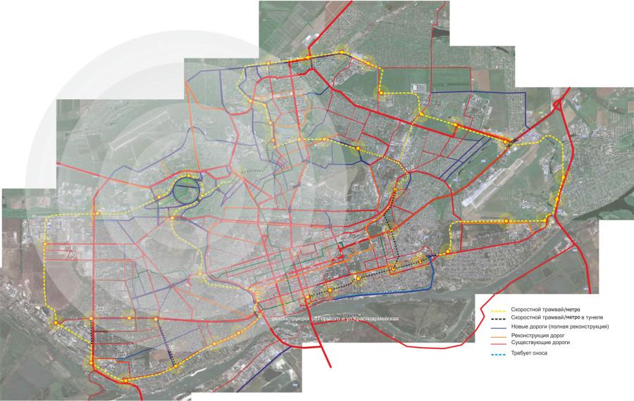общая схема города.