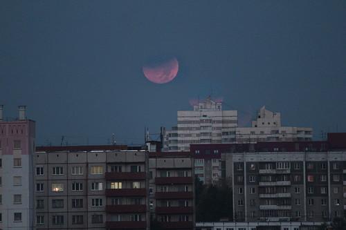 Коллаж затмения над Челябинском, 3 кадра
