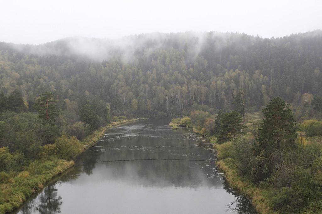 Река Ай, Куса, с моста