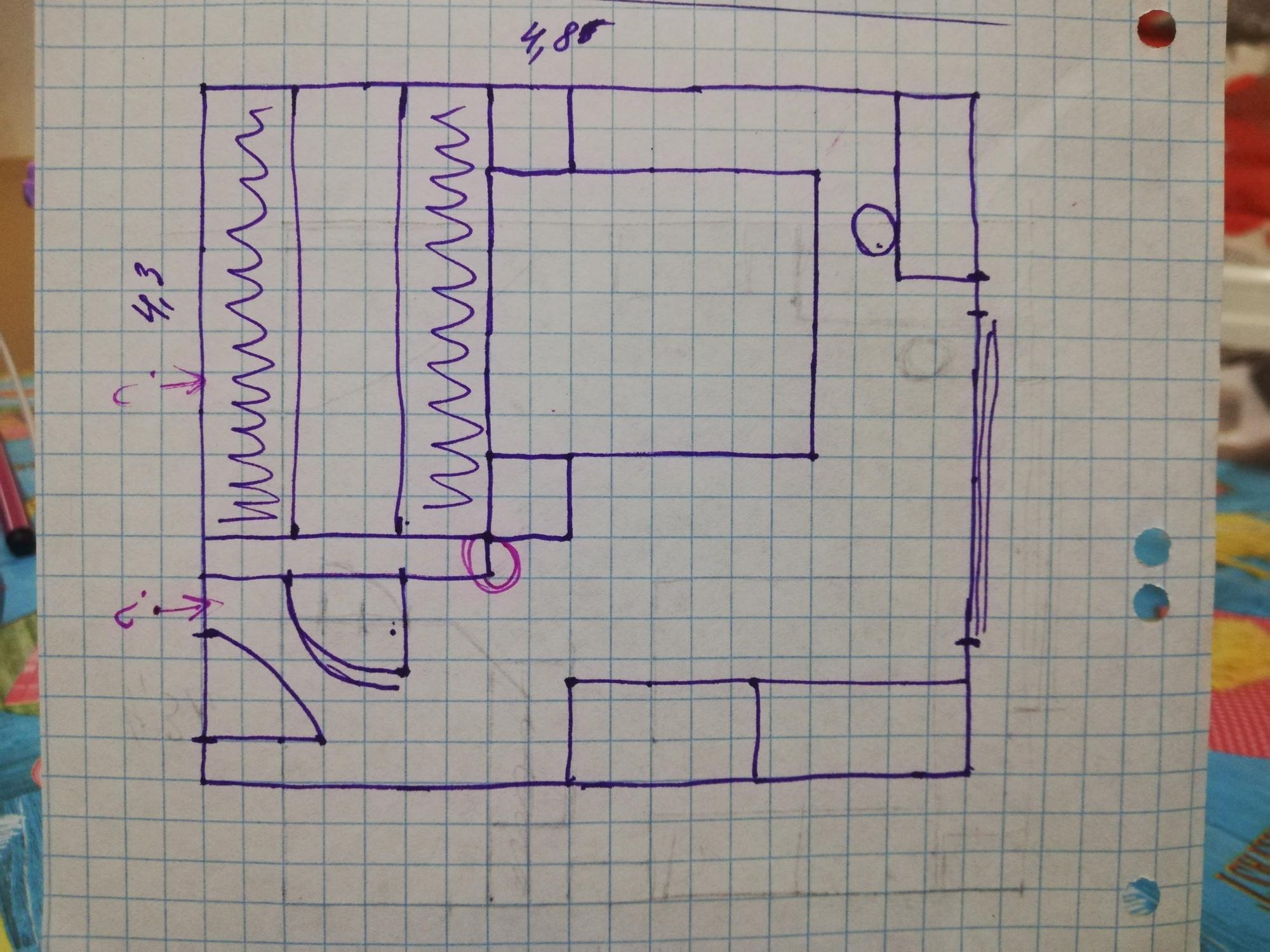 Наташа делает новый план спальни с гардеробной