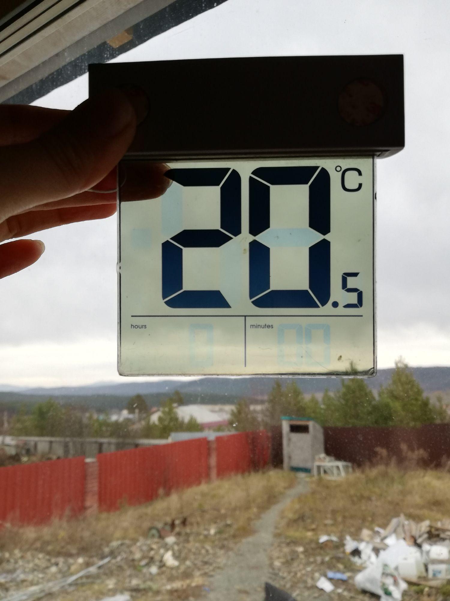Нашёл среди непоймикакой дребедени в коробке от папы термометр, на солнечной батарее