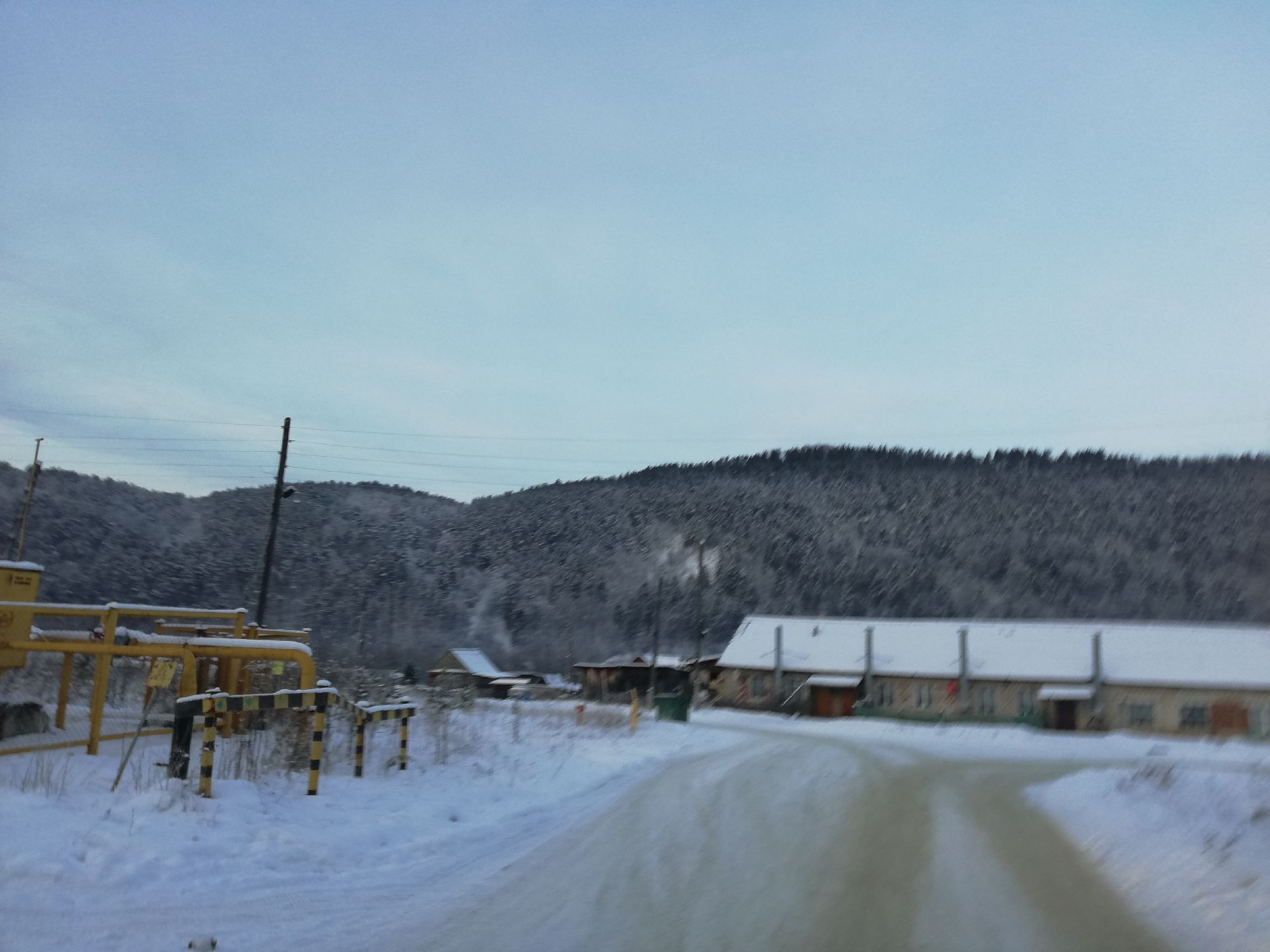 По дороге к пилораме