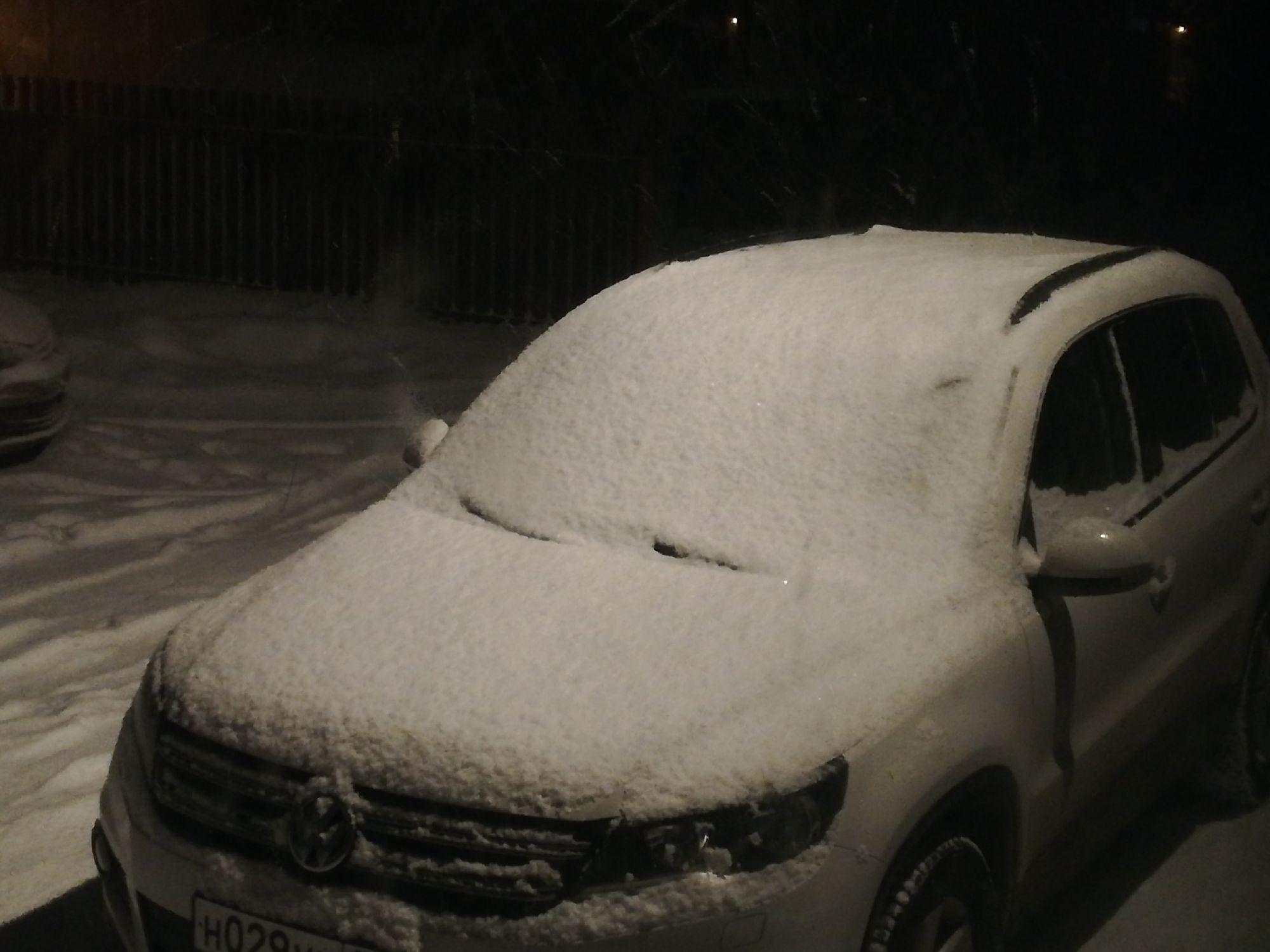 Машину засыпало