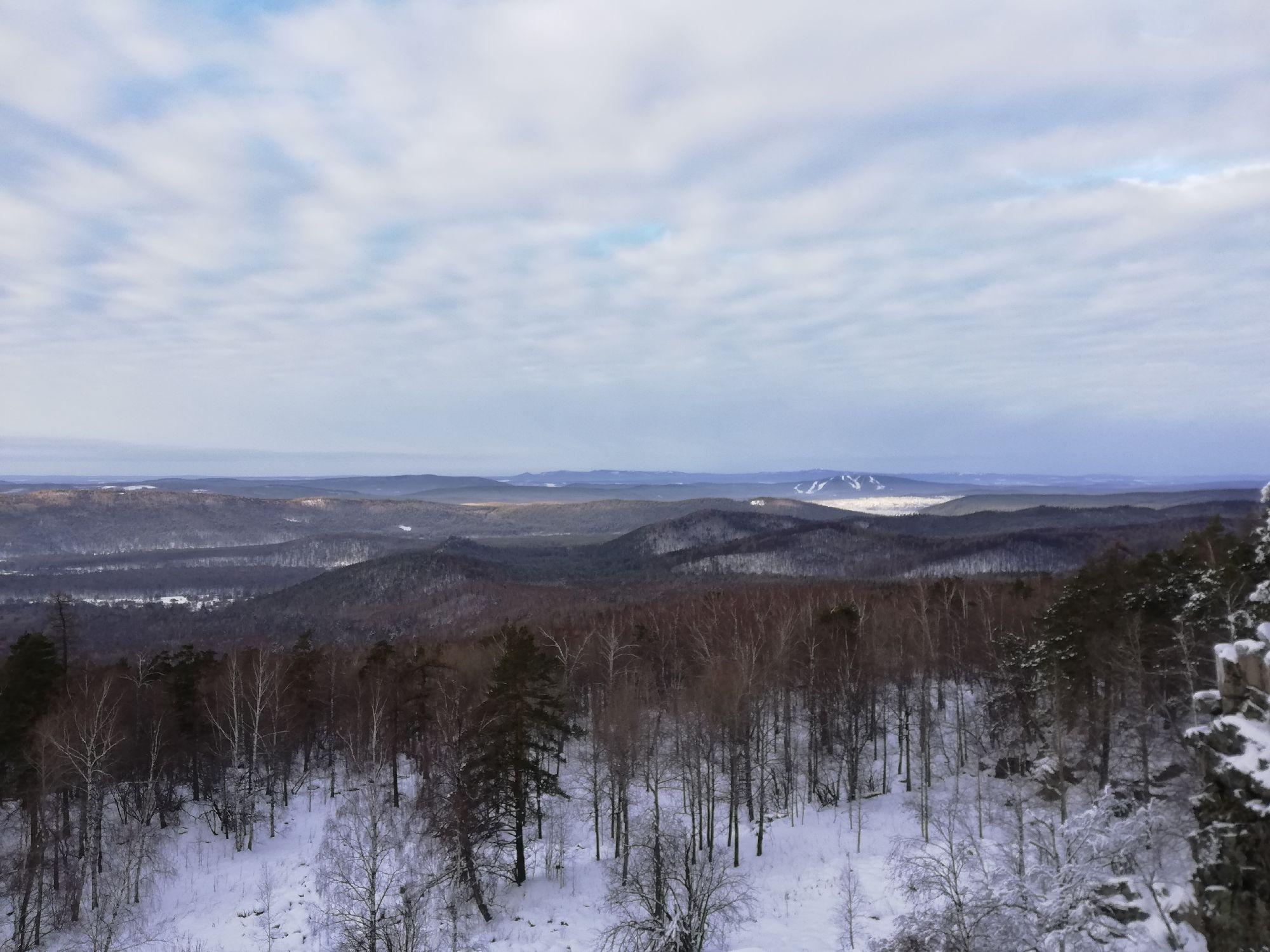 Вид на Кусу, горнолыжку, разные горы