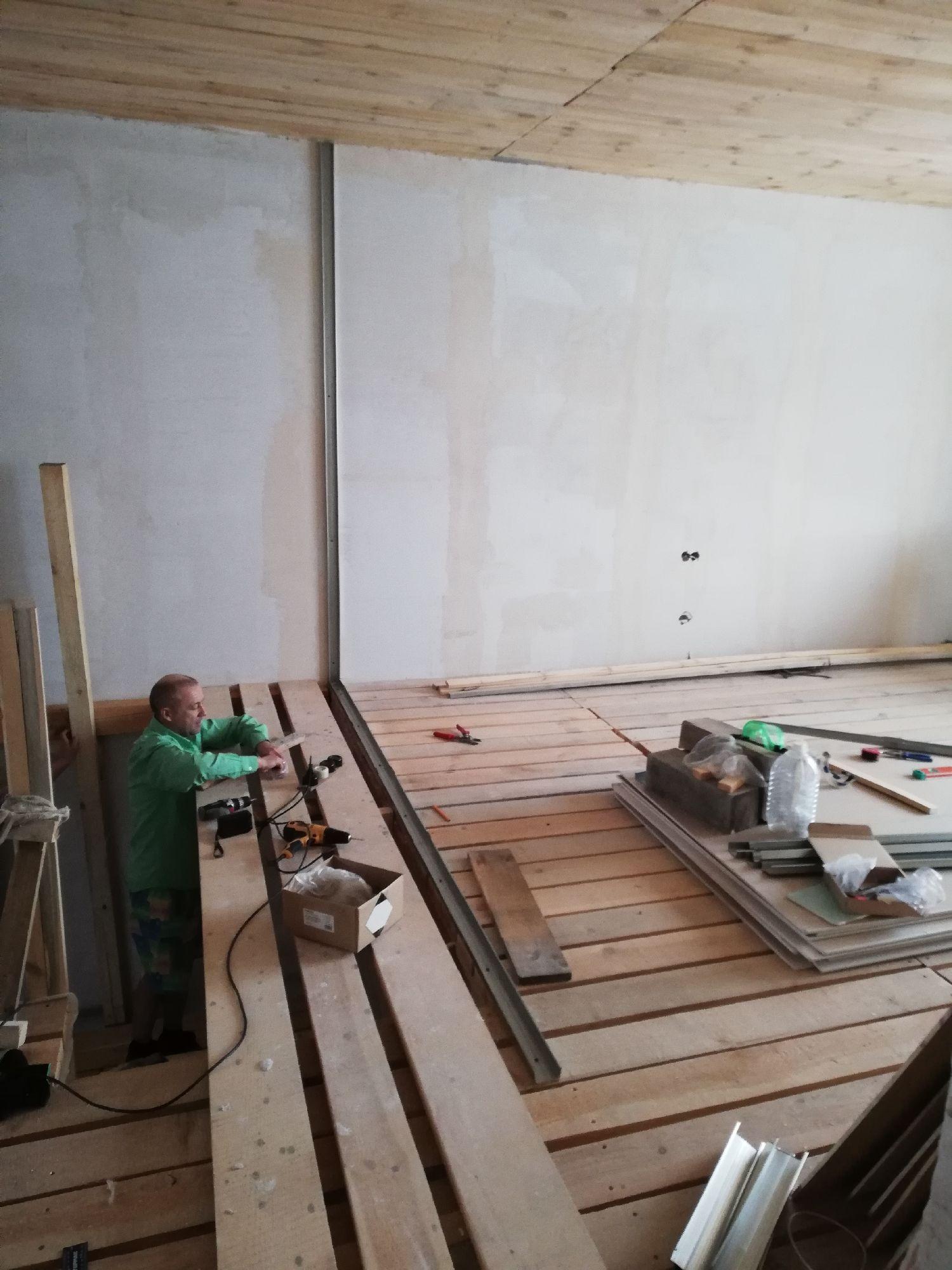 Строим площадку над лесенкой