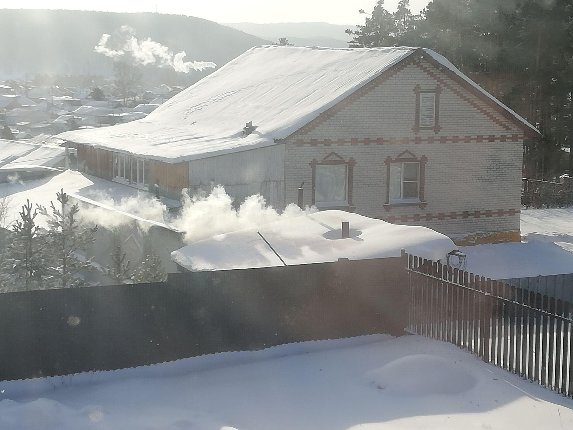 Дымит соседская баня