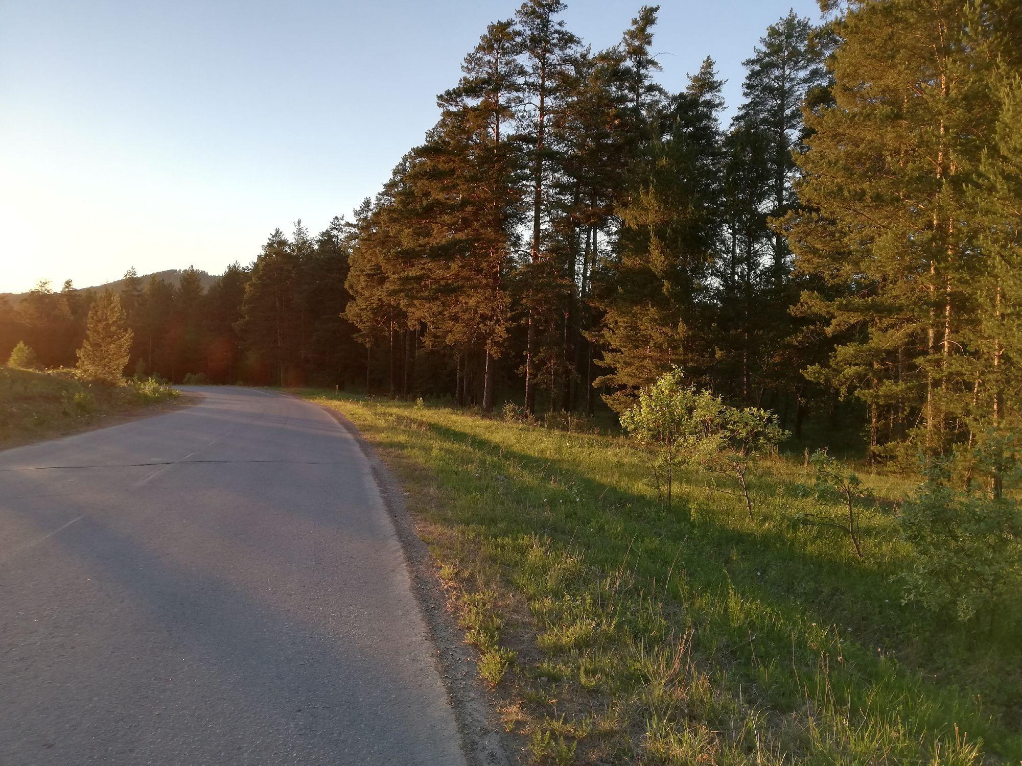 Это дорога к горнолыжке Евразии. Мы всегда катались здесь на великах и часто гуляли с братом и другом.