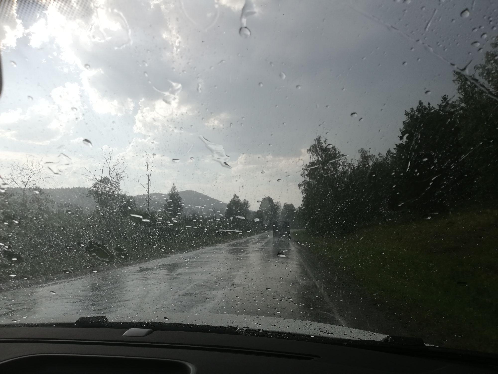 В Сыростане нас накрыло дождём!