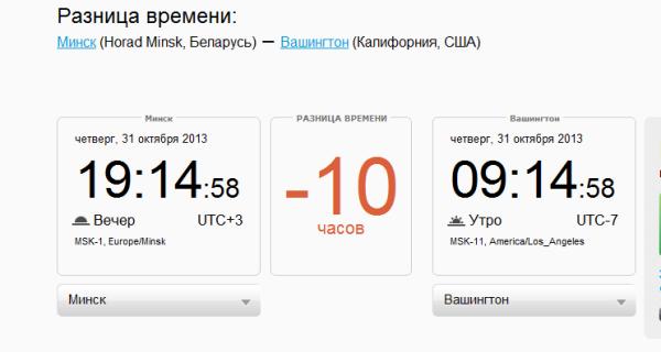 2013-10-31 19_15_00-Разница во времени в Минске, Horad Minsk, Беларусь и Вашингтон, Калифорния, США.