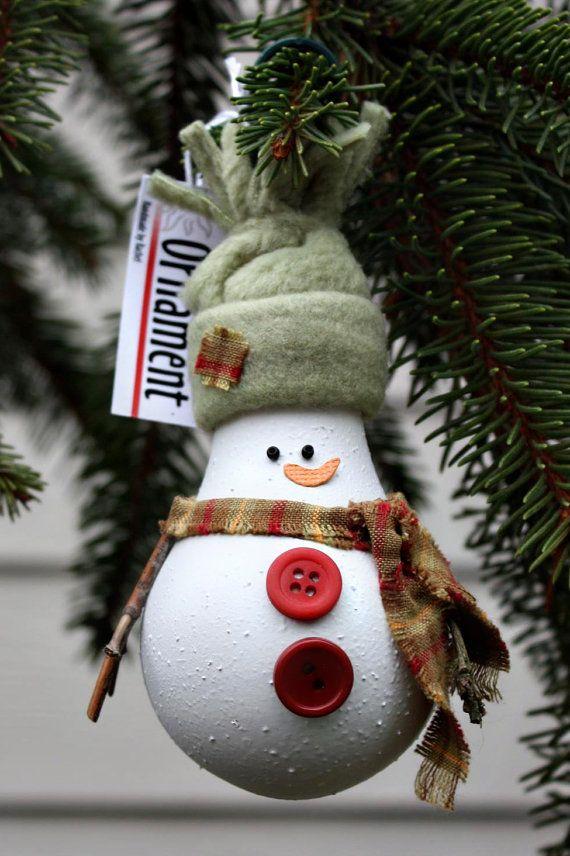 Игрушка на ёлку своими руками снеговик