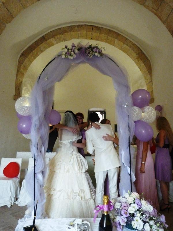 Свадьба в замке около Рима