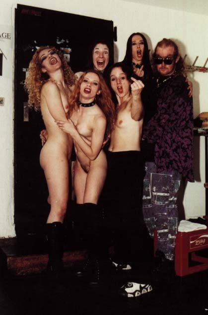 Naked boobs of rock groupie girls