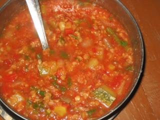 delicious tomato-lentil soup