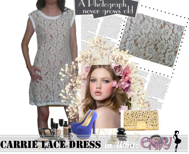 carrie dress white  picA