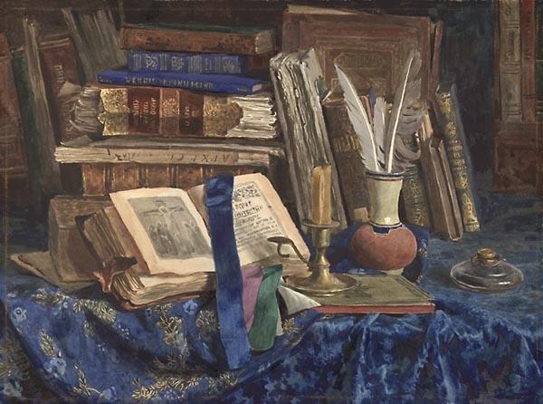 Андрияка натюрморт с книгами