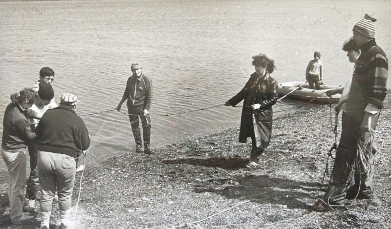 Рыбалка на реке Яне. Июль 1990г.
