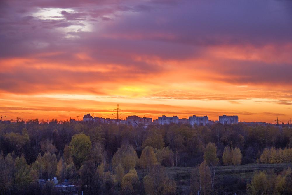 Солнце садится. Сегодняшнее фото.