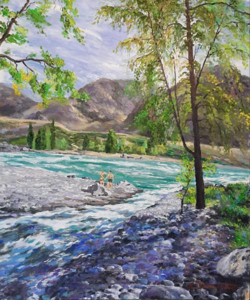 А. Даманский. На реке Катуни.