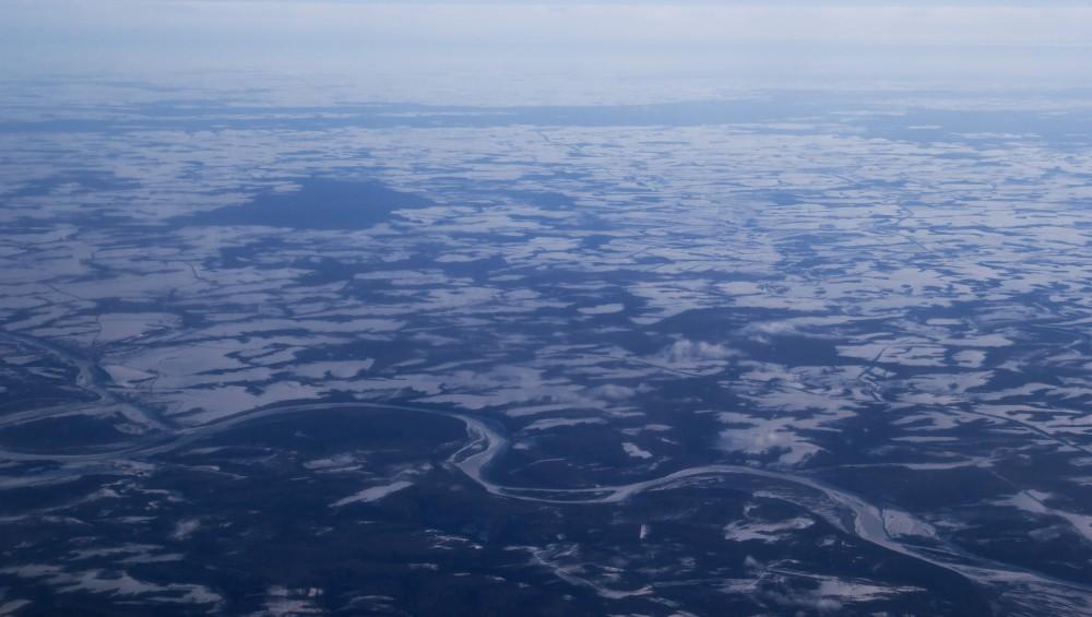 Снимок сделан в марте 2015 из самолёта Омск-Москва.